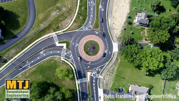 N. Hamilton and Clark State Rds. Roundabout, Gahanna, OH
